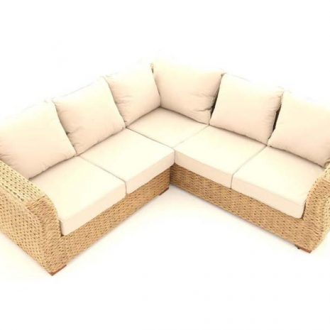 Bude Outdoor Rattan Corner Sofa 5 Seater