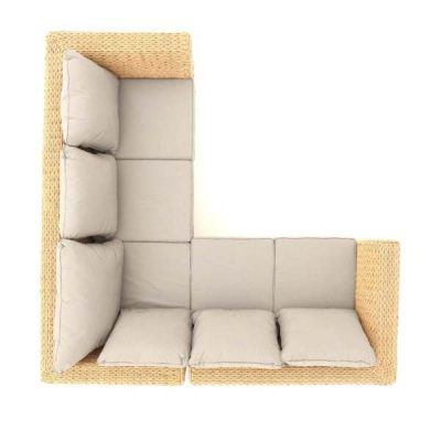 Bude Rattan Corner Sofa - Top down view