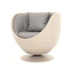 Dartmouth AquaMax Rattan Swivel Bucket Chair - Egg Cup Shape