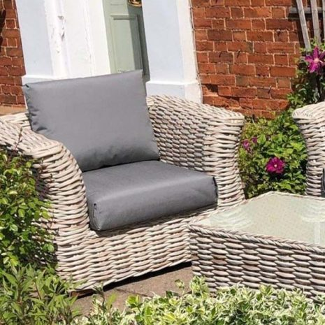 Poole Curved Rattan Garden Armchair