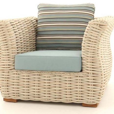 Poole Curved Rattan Outdoor Armchair