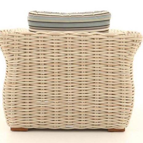 Poole Curved Rattan Outdoor Armchair - Back view