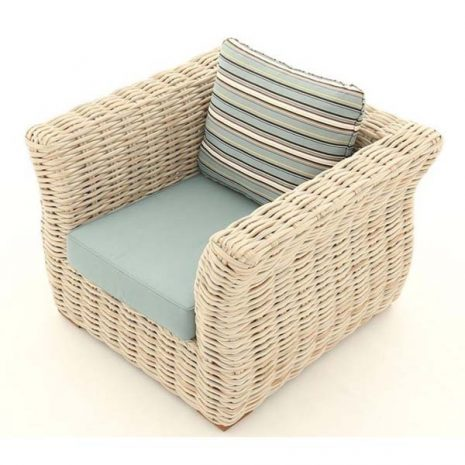 Poole Curved Rattan Outdoor Armchair - top down