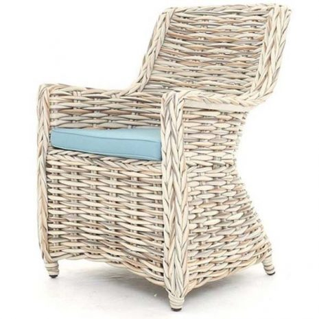 Poole Outdoor Rattan Garden Dining Chair 2