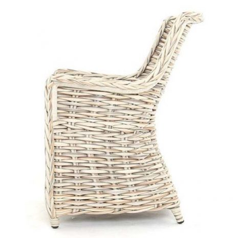 Poole Outdoor Rattan Garden Dining Chair - Side view