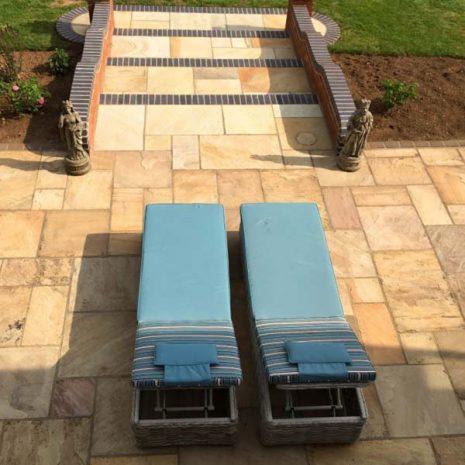 Poole Rattan Reclining Sun Loungers - top down