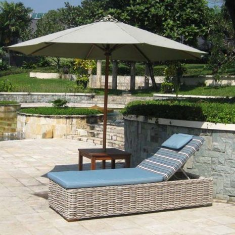 Poole Rattan Sun Lounger With Cushion