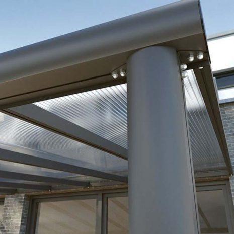 Tabernas Aluminium Wall Mounted Verandah Leg Post Close Up