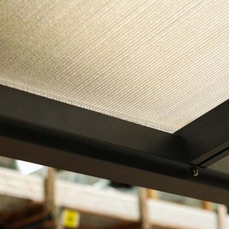 Tabernas Verandah Polycarbonate Roof Panel Close Up