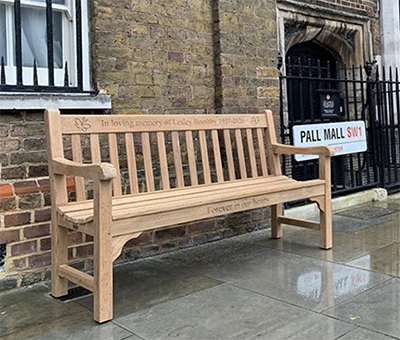 Roman bench in Pall Mall