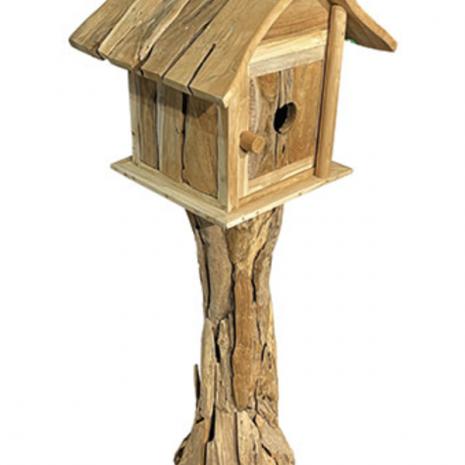 Root Bird House with Door