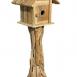 Root Bird House with Door front view