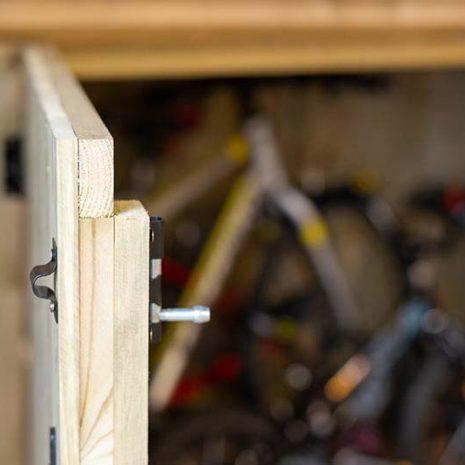 Superior Bike Store Door Open Close Up