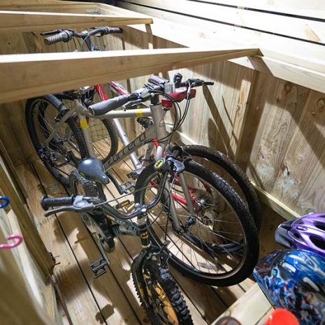 Superior Bike Store Roof Open