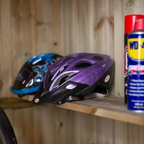 Superior Bike Store Shelf Close Up
