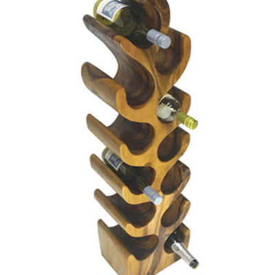 Tree wine rack 12 hole side front view
