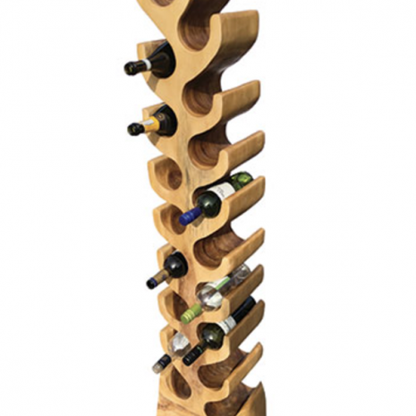 Tree wine rack 18 hole side profile
