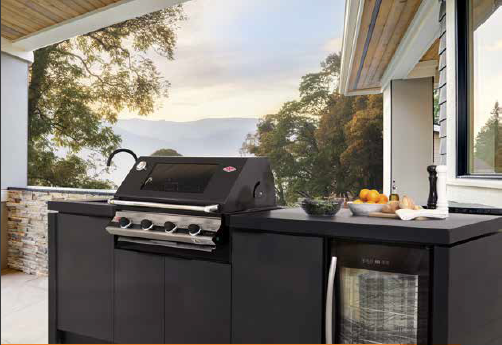 The Beefeater 4 burner BBQ in your outdoor Kichen is a stunning and functional choice