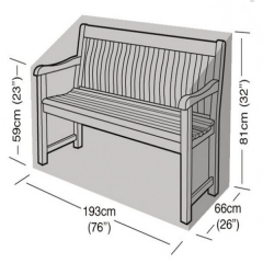 1.8m Bench Cover Dimensions