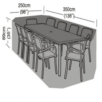 10 seater rectangular cover dimensions