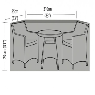 2 seater extra large bistro set dimensions