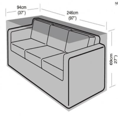 3 seater rattan sofa cover dimensions