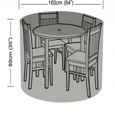4 seater round furniture set dimensions