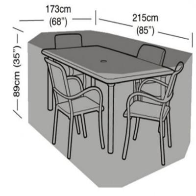 4 seater rectangular set dimensions