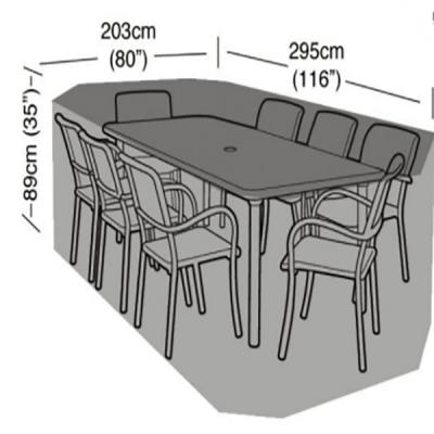 8 seater rectangular furniture set dimensions