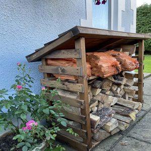 Bronte wooden log and kindling storage shed
