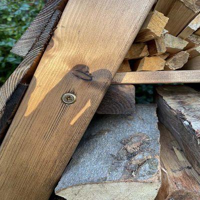 Bronte Triangular Wooden Garden Log Store – Sustainable Wood