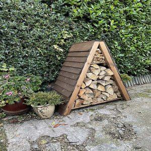 Bronte Triangular Log and Kindling Store