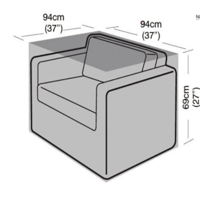 Large rattan armchair cover dimensions