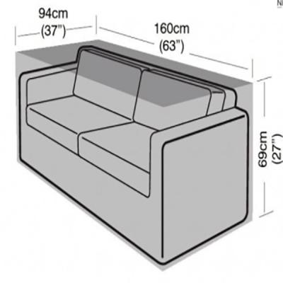 Rattan 2 seater sofa cover dimensions