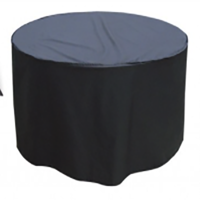 8 Seater Round Furniture Set Cover Black