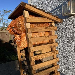 Bronte Tall 1.8m Wooden Garden Log Store – Sustainable Wood