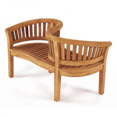 Tete a Tete Teak Conversation Bench Love Seat